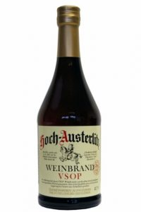 "Old brandy ""Hoch Austerlitz VSOP"" from the STETTNER company"